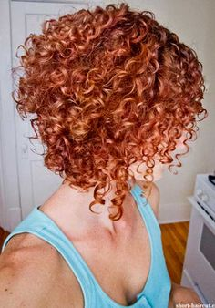 Short red curly haircut....LOVE IT!
