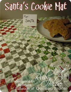 Moda Bake Shop: Santa's Cookie Mat