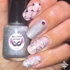 """#WINPolish love Light Pink color so perfect very pretty. With indie polish design anonymous polish call """"Illumination"""""""
