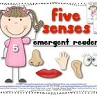 You+are+receiving+a+Five+Senses+-+science+emergent+reader. The+reader+is+8+pages+long.+It+contains+two+versions+of+the+same+reader.+  One+is+blackl...