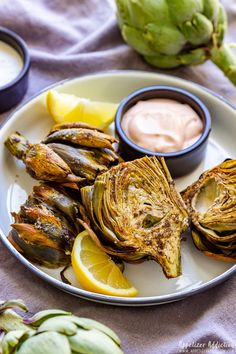 Air fryer artichokes are a simple yet delicious appetizer perfect for any occasion. Roasted artichokes cooked in air fryer take significantly less than in the oven so why not give it a go! Air Fry Recipes, Air Fryer Recipes Easy, Cooking Recipes, Meat Recipes, Cooking Tips, Salad Recipes, Chicken Recipes, Meat Appetizers, Corona