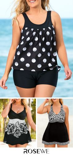 swimsuits for plus size women 50 best outfits - Page 29 of 90 - how to lose weight fast Tankini Swimsuits For Women, Plus Size Swimwear, Black Tankini, Online Shopping For Women, Swim Dress, Swimwear Fashion, Sweet Style, Latest Fashion For Women, Plus Size Women