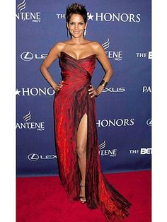 Halle Berry in a Monique Lhuillier dress at the BET Honors in D.C.