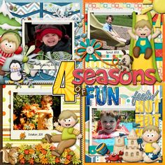 Sweet Shoppe Designs::Templates & Tools::Layout Templates::Sweet Single No. 2: Four Squared by Nettio Designs