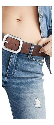 Reversible Leather Belts for Women with Wide Solid Brown Western Waist Sash Waistband Men Silver belt Buckle Branded Belts, Faux Leather Belts, Belts For Women, Belt Buckles, Sash, Denim Skirt, Fashion Brands, Brown, Jeans