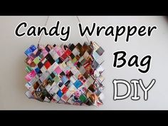 How To Make A Zig Zag Candy Wrapper Bag / Purse Part 1 - YouTube Candy Wrapper Purse, Candy Wrappers, Recycled Paper Crafts, Diy And Crafts, Recycle Paper, Paper Purse, Purse Tutorial, Diy Purse, Candy Making