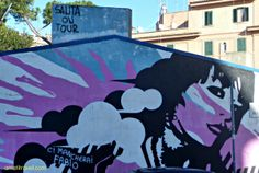 Santa on tour.  #Rome #streetart www.amatitravel.com