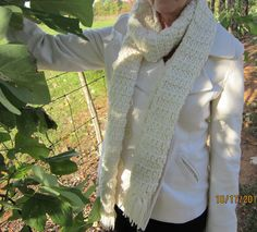 www.robbienae.etsy.com Winter White Scarf by RobbienaeQuilts on Etsy