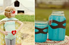 Love the mask on the jars - could do a mask around drink dispensers too