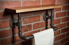 Industrielle de bain serviette Rack - Salle de bain plateau - Déco maison - étagère industrielle - plateau rustique - Decor industriel - porte-serviettes - livraison gratuite