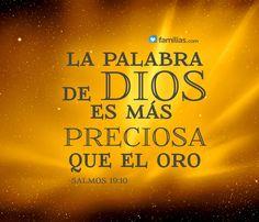 La palabra de Dios es más preciosa que el oro