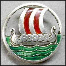 David-Andersen Viking Ship Brooch