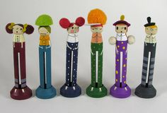 Clothes pin dolls. by Elsita (Elsa Mora), via Flickr