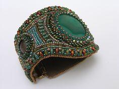 CatrinaJewels Bead embroidery bracelet
