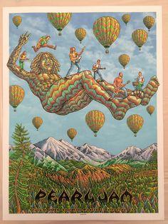 2016 Pearl Jam - Telluride Silkscreen Concert Poster by Emek AP