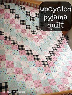 This would make the softest quilt ever - with all those broken in fabrics...   Need to send out requests to family members!