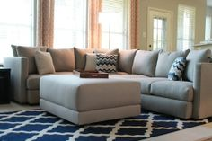 Grey Sectional - with blue
