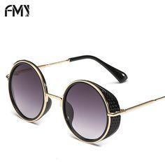 7c32695266017 FMY Marca Designer Óculos De Sol Das Mulheres Do Vintage óculos de sol  Retro Espelho Lens