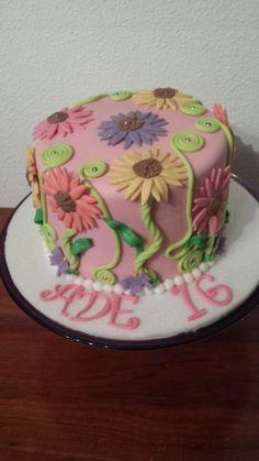 Tarta Floral para Ade..