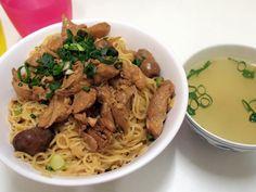 Indonesian food: Bakmi ayam jamur