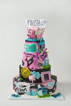 Cake for The Flying Pig Marathon with our Flying Pig Cake Pop!