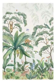Lulu & Georgia Jungle Wallpaper Mural Best Picture For Dye shoes For Your Taste You are looking for something, and it is going to tell you exactly what you are looking for, and you didn't find that pi Farrow Ball, Georgia Wallpaper, Gabriel, Socialite Family, Famous Interior Designers, Computer Wallpaper, Custom Wallpaper, Wall Murals, Print Design