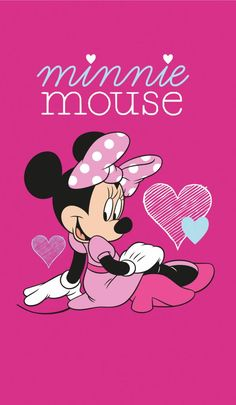 Disney Minnie Mouse Hart - Strandlaken - 70 x 120 cm - Roze