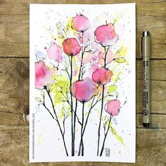 CeeCee (@creationsceecee) • Instagram-foto's en -video's Watercolor Painting Techniques, Watercolor Projects, Abstract Watercolor, Watercolor And Ink, Watercolor Illustration, Watercolor Flowers, Watercolor Paintings, Watercolor Beginner, The Joy Of Painting