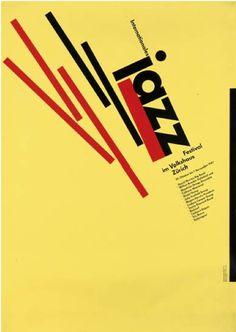 By Siegfried Odermatt (1926- ) & Rosemarie Tissi (1937- ), 1987, Internationales Jazz Festival,  Zürich.