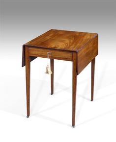 George III mahogany small pembroke table
