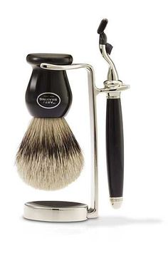 The Art of Shaving® Nickel-Plated Classic Brush/Razor Stand available at #Nordstrom