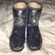 Women's sequin UGG boots great condition!!! UGG Shoes Winter & Rain Boots