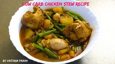 My Hearty Low Carb Chicken Stew will keep you happy and warm during cold winter days. Stew Chicken Recipe, Poultry, Low Carb, Victoria, Beef, Cooking, Easy, Recipes, Food