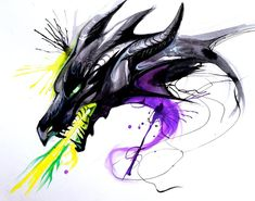 Throwback Dragons: Malificent by Lucky978.deviantart.com on @deviantART