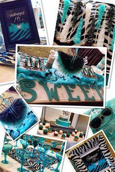 Zebra Diva Sweet 16 Birthday Party Ideas | Photo 21 of 21