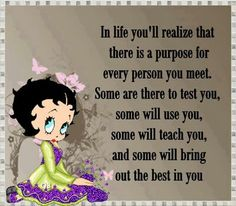 Quote using Betty Boop image.