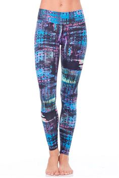 Electric JoJo Legging from Dona Jo features a cool pop art plaid pattern. These leggings are great for high intensity workouts and runs for sizes 2-14!! Available at evolvefitwear.com