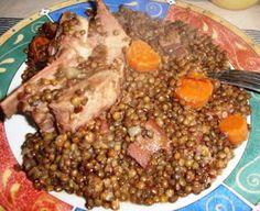 Petit salé aux lentilles au cookeo, un délicieux plat facile à réaliser avec cotre cookeo et cette recette, un plat rapide à faire.
