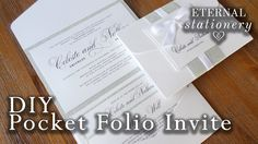 How to make an elegant lace motif and brooch invitation diy how to make your own modern pocket folio wedding invitations diy invitation youtube solutioingenieria Gallery