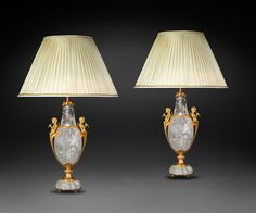 Pair of XIX th century ormolu bronzes in style of the XVIII th century.  Alexandre VOSSION antiques