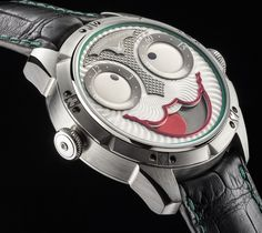 """Creativity from Konstantin Chaykin strikes again and never fails to surprise us. Called """"Joker"""" - displaying the time with a """"face"""" that has about 20,000 distinct """"facial expressions."""" Paying homage to the Batman villain with the same name..."""