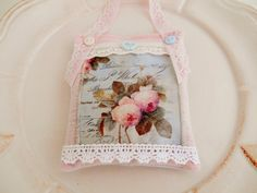 Cottage Chic Lavender Sachet/Home Decor by picocrafts on Etsy, $8.00