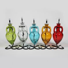 Single Amphora bottle/stand- Olive Cart