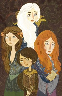 Dany, Ygritte, Margaery & Arya ♥ Commission by Sarah Kieley