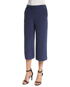 Shop contemporary fashion trends at Neiman Marcus. Pick out the future of fashion with this organized trend selection filled with designer apparel. Joie Clothing, Dark Navy, Cropped Pants, New Fashion, Neiman Marcus, Capri Pants, Legs, How To Wear, Clothes