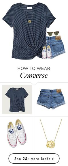 featuring Abercrombie & Fitch, Converse and Rayban Converse Outfits, Cute Summer Outfits, Spring Outfits, Mode Outfits, Casual Outfits, School Outfits, Teen Fashion, Fashion Outfits, Fashion Trends