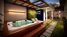 Hot Tub Garden, Hot Tub Backyard, Small Backyard Pools, Small Pools, Swimming Pools Backyard, Lap Pools, Indoor Pools, Pool Decks, Pool Landscaping