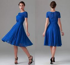 Vintage Royal Blue Lace Mother of Bride Dresses With Short Sleeve Bridal Bridesmaid Evening Wedding Party Gowns 2015 Arabic Cheap Modest Dresses, Cheap Dresses, Nice Dresses, Short Sleeve Dresses, Dresses With Sleeves, Short Sleeves, Cap Sleeves, Vintage Dresses, Prom Dresses