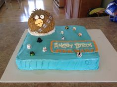 My sons Angry Birds Star Wars Cake I made