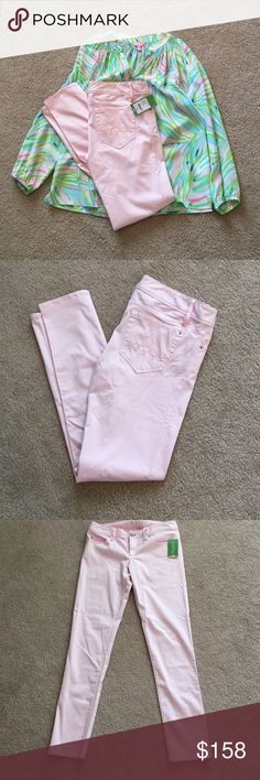 Lilly Pulitzer Worth Skinny Pants Pink Fizz NWT! So soft! Beautiful color! Lilly Pulitzer Pants Skinny